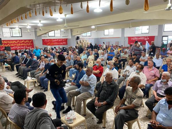 """""""الديمقراطية"""" تحيي اليوم الوطني لشهيدها بمهرجان سياسي اقامته في مخيم البص"""