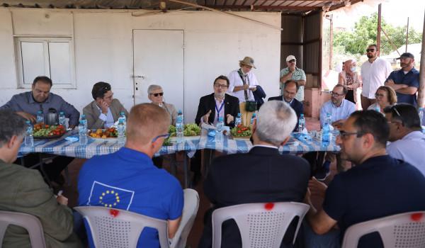 رؤساء التعاون الأوروبي ينظمون جولة للمشاريع الزراعية في محافظة قلقيلية