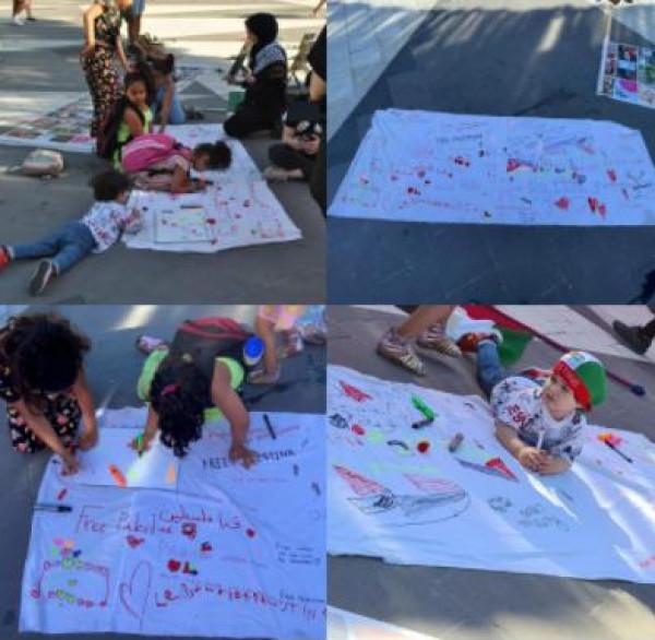 اتحاد الشباب الفلسطيني ينظم نشاطا في إستوكهولم تخليدا للأطفال الذين اسشهدوا بغزة
