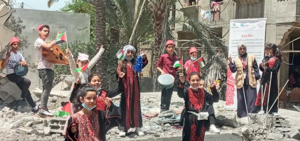 """""""طفولتنا مستمرة"""" مبادرة يطلقها اتحاد لجان المرأة للتخفيف من أثار العدوان الإسرائيلي"""