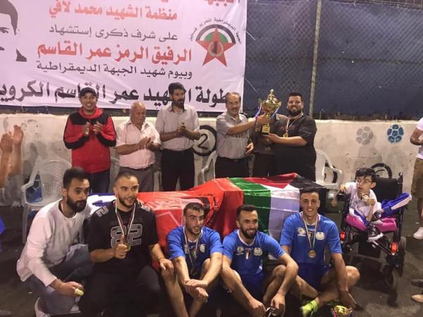 """""""الديمقراطية"""" في أبو ديس تنظم بطولة كروية بمناسبة يوم الشهيد الجبهاوي"""