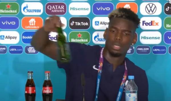 بوغبا يزيح زجاجة بيرة لأحد رعاة اليورو