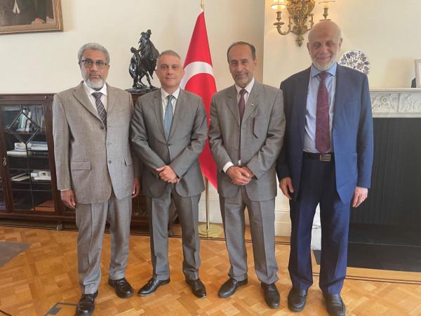 بريطانيا: وفد من المنتدى الفلسطيني ومؤسسات إسلامية يشكرون تركيا على الدعم المتواصل للقضية الفلسطينية