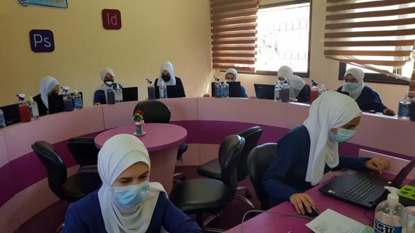 مديرية شمال غزة تتفقد سير الامتحانات العملية للفروع المهنية
