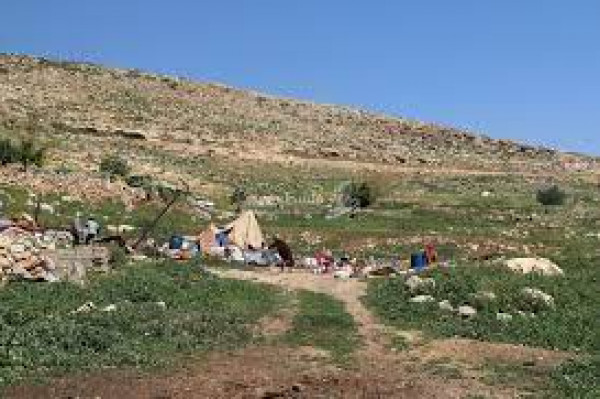 مستوطنون يقتحمون خربة طانا شرقي نابلس
