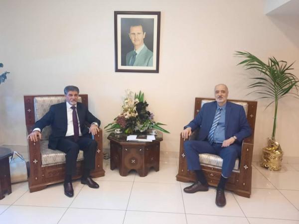 عبد الهادي يطلع نائب وزير الخارجية السوري على مجمل التطورات الفلسطينية