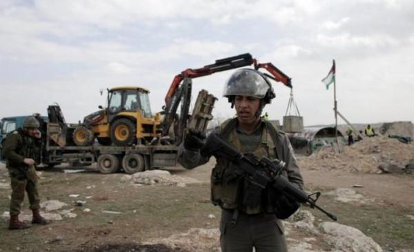 الاحتلال يخطر بوقف البناء في منشأة زراعية غرب بيت لحم