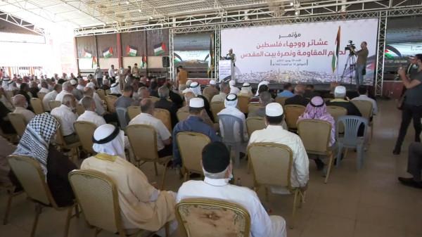 شاهد: وجهاء وعشائر فلسطين ينظمون مؤتمراً لدعم المقاومة ونصرة بيت المقدس
