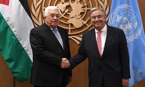 الرئيس لغوتيريش: واثقون أنكم ستبذلون الجهود لعقد مؤتمر دولي للسلام وفق قرارات الشرعية الدولية