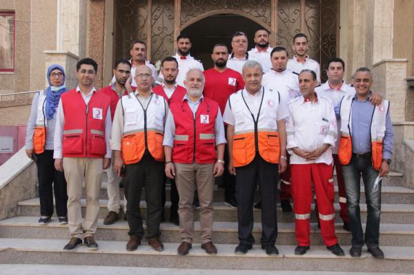 رئيس الهلال الاحمر التركي يزور فروع الجمعية بقطاع غزة