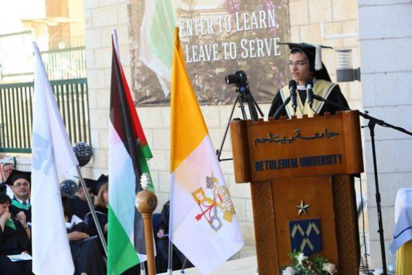 جامعة بيت لحم تحتفل بتخريج الفوج 45 من طلبتها