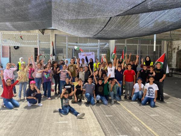 افتتاح مخيم الشيخ جراح للأشبال والزهرات في مدينة قلقيلية