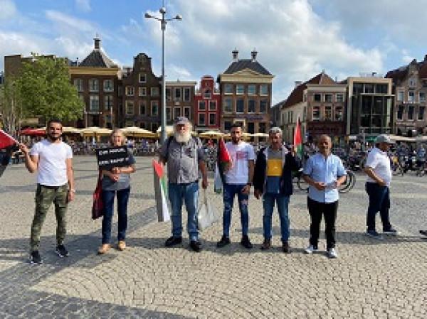 وقفة تضامنية مع الشعب الفلسطيني في مدينة (خرونغن) الهولندية