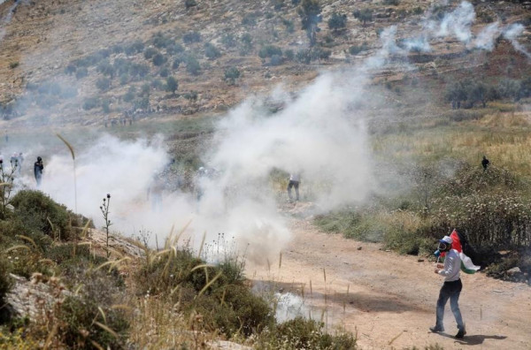 مواجهات مع الاحتلال على مدخل بيتا وفي محيط جبل صبيح