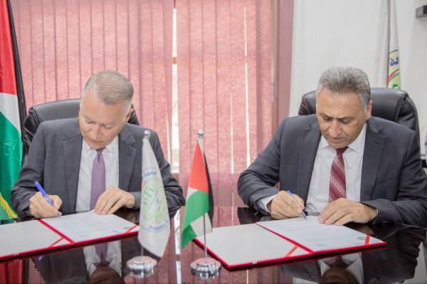 """اتفاقية تعاون بين جامعة فلسطين التقنية """"خضوري"""" وشركة مسار العالمية"""