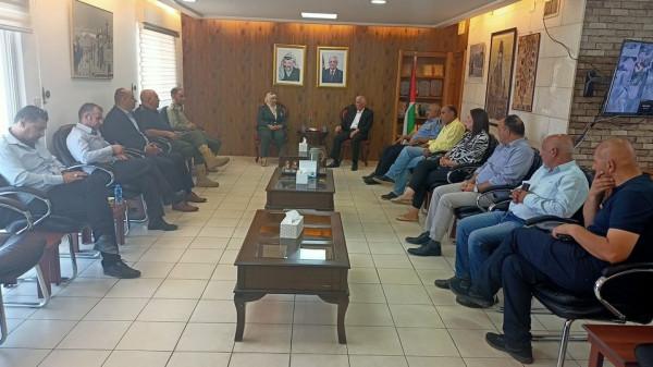 حميد والبنا يتفقان على استمرار التعاون لتشغيل مستشفى فلسطين العسكري ببيت لحم