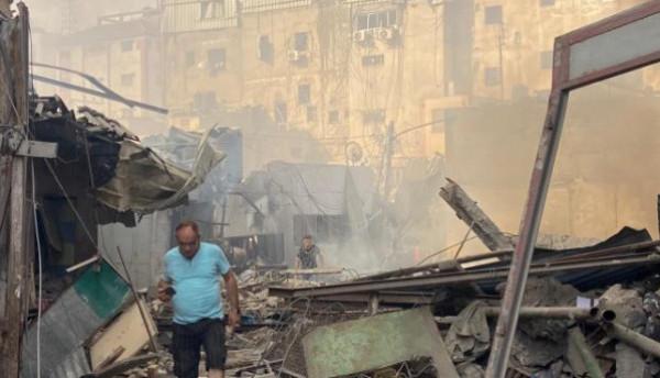 شاهد: لحظة انفجار سوق الزاوية بغزة   دنيا الوطن