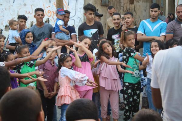 يوم ترفيهي للأطفال تحت رعاية الاتحاد الديمقراطي الفلسطيني (فدا) في المحافظة الوسطى