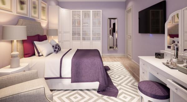 شاهد كيفية تنسيق اللون البنفسجي في غرف النوم