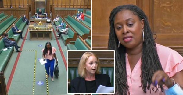 """شاهد: طرد نائبة بريطانية من البرلمان بعد وصفها جونسون بـ""""الكاذب"""""""
