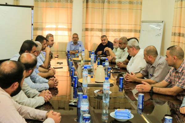 شاهد: حركة حماس بخانيونس تستقبل وفدا من الجهاد الإسلامي