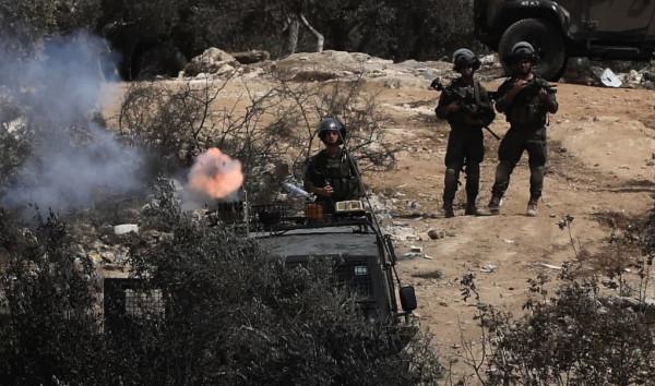 تعطل آلية للاحتلال خلال فعاليات الإرباك ببلدة بيتا