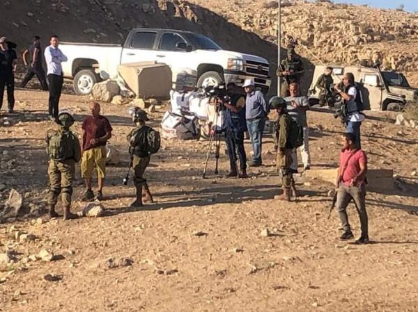 الأغوار: قوات الاحتلال تقمع مسيرة جماهيرية رافضة للاستيطان