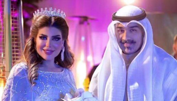 شاهد: أول ظهور لإلهام الفضالة وزوجها شهاب جوهر بعد زواجهما