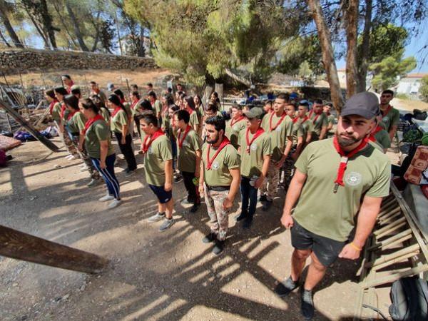 بمشاركة اكثر من 200 مشارك.. مجموعة كشافة ترسنطا تختتم مخيمها الكشفي