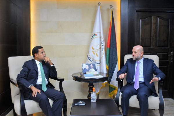الهباش يستقبل سفير المملكة الأردنية الهاشمية لدى دولة فلسطين
