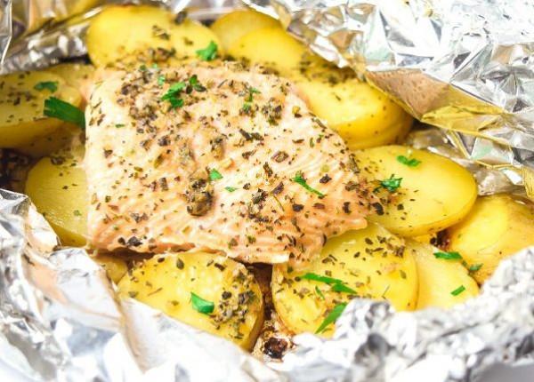 طريقة تحضير سمك فيليه مع البطاطس بالفرن صحي