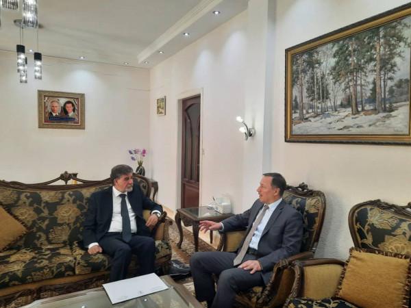 عبد الهادي يبحث مع المبعوث الخاص للرئيس الروسي آخر تطورات الأوضاع في فلسطين