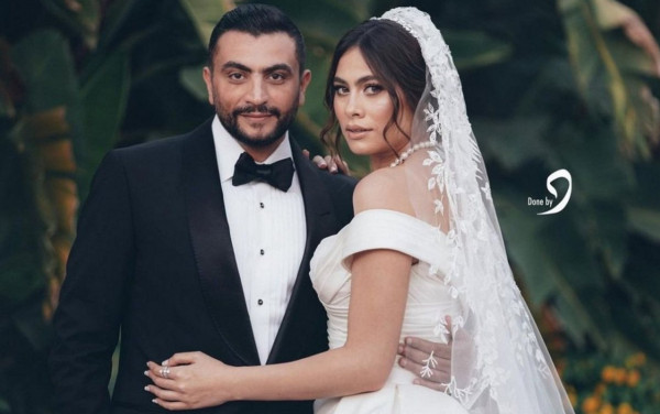 شاهد: هاجر احمد ترتدي فستان زفافها بـ14 ألف دولار