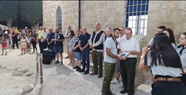 مجموعة نادي الاتحاد الأرثوذكسي العربي بالقدس تختتم مخيمها الكشفي 40