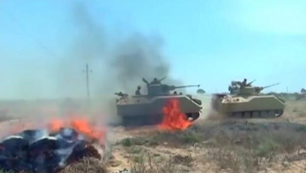 """الجيش المصري يعلن مقتل 89 """"عنصراً تكفيرياً شديد الخطورة"""" في شمال سيناء"""