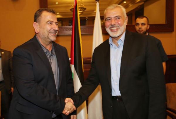حماس تعيد انتخاب هنية رئيساً لمكتبها السياسي لدورة جديدة والعاروري نائباً له