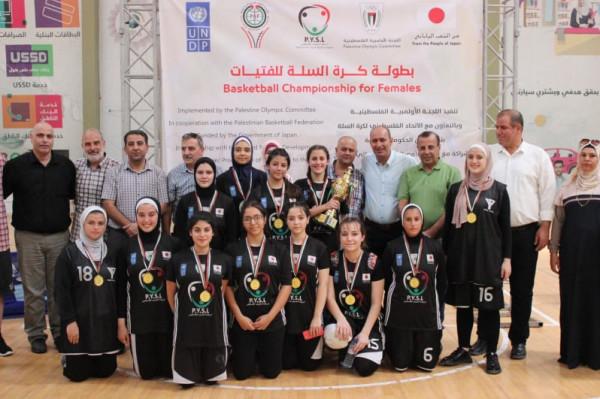 المجدلاوي يتوج فتيات غزة الرياضي بلقب بطولة كرة السلة والشبان المسيحية ثانياً