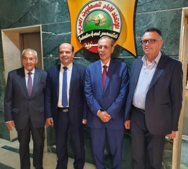 المحمود: تخصيص حائط للصورة الفلسطينية بمقر اتحاد الصحفيين العرب