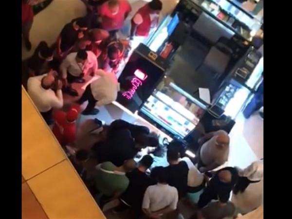 شاهد: لحظة سقوط فتاة من الدور السادس بمول في مصر
