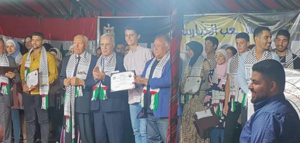 حركة فتح تكرم الطلبة المتفوقين بالثانوية العامة والتعليم الأساسي في دمشق