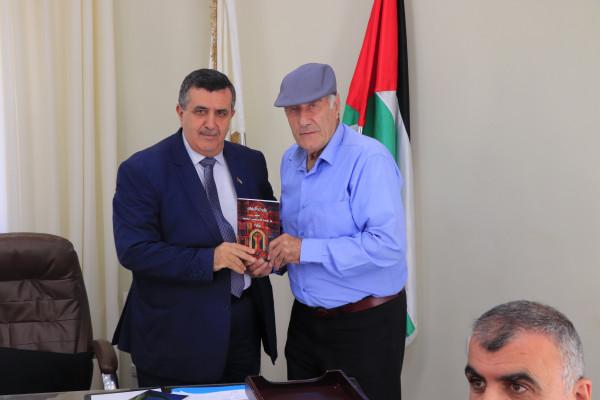 رئيس بلدية بيت لحم يستقبل منتدى أدباء بلاد الشام