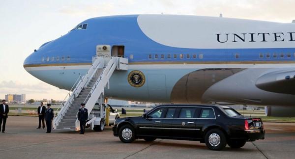 (خرقاً خطيراً) داخل طائرة الرئيس الأميركي الجديدة