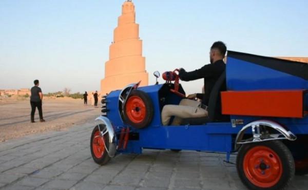 شاهد: شاب يبتكر سيارة تعمل بلا وقود وصديقة للبيئة