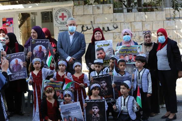 محافظ طولكرم يشارك بالإعتصام التضامني مع الأسرى