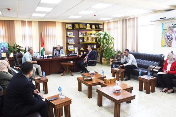 نائب محافظ سلفيت يستقبل رئيس النيابة الجديد خليل سلامة ووكيل النيابة سهيل بركات