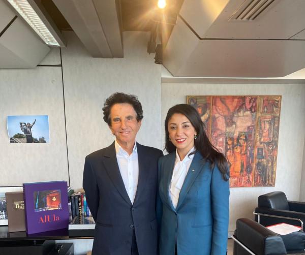 السفيرة أبو حصيرة تلتقي رئيس معهد العالم العربي