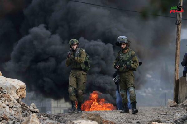 إصابة جندي بجراح خلال مواجهات في قرية كفر قدوم