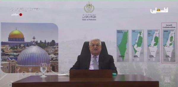 الرئيس عباس يمهل إسرائيل عاماً واحداً للإنسحاب من الأراضي المحتلة عام 1967