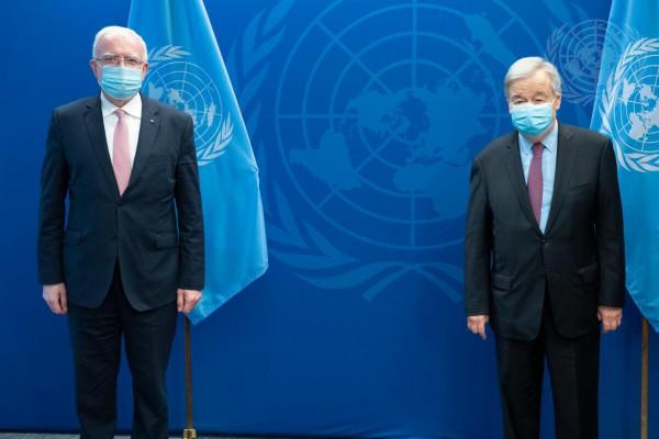 المالكي يلتقي الأمين العام للأمم المتحدة لإطلاق الحراك الدولي لتنفيذ خطاب الرئيس