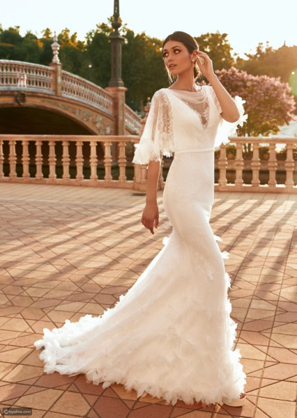 لإطلالة مثالية للعروس.. إليكِ موديلات فساتين زفاف فخمة 2021